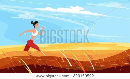 Athletic Woman Sprinter Running. Beautiful Woman In Sportswear. Sport Motivation And Healthy Lifesty