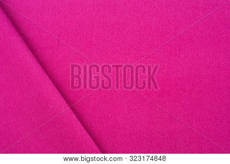 Magenta Colored Fabric. Cloth Background. Natural Fabric. Fuchsia Colored Fabric. Fabric Texture. Fa