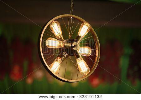 Night Bulb Decoration For Wedding Ceremony Stock Photo. Wedding Lighting Images, Stock Photos & Vect