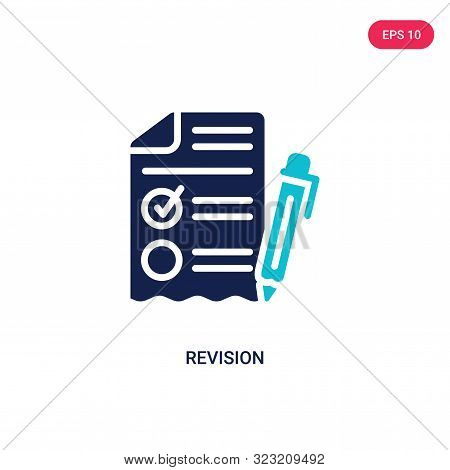 revision icon in two color design style.