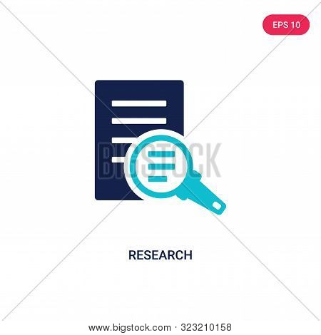 research icon in two color design style.