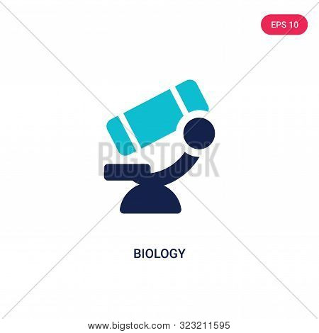 biology icon in two color design style.