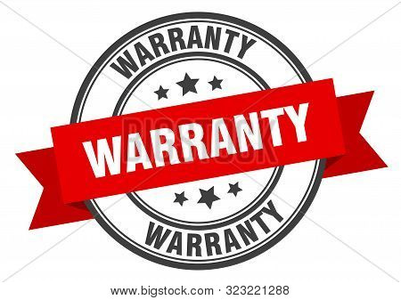 Warranty Label. Warranty Red Band Sign. Warranty