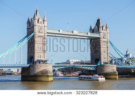 Tower Bridge In London, The Uk. Tower Bridge In London Has Stood Over The River Thames