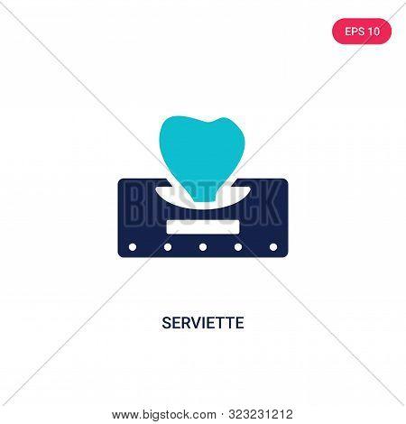 serviette icon in two color design style.