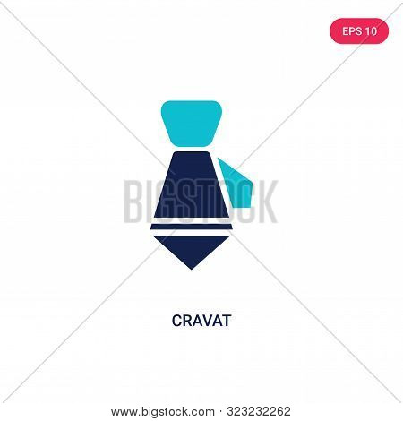 cravat icon in two color design style.