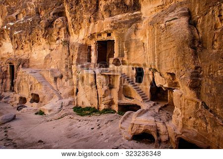 Nabataean Ancient Site In Famous Touritstic Place Of Petra In Jordan