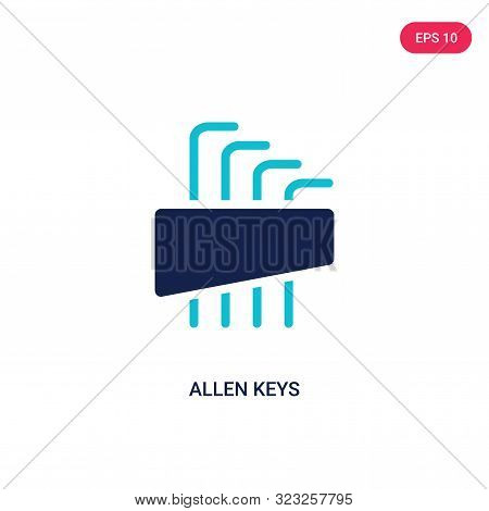allen keys icon in two color design style.