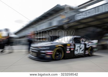 September 06, 2019 - Indianapolis, Indiana, USA: David Starr (52)  takes to the track to practice for the Indiana 250 at Indianapolis Motor Speedway in Indianapolis, Indiana.