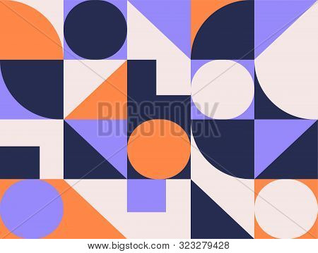 Geometric Pattern Background With Square, Geometry Round, Triangle. Abstract Creative Color Geometri
