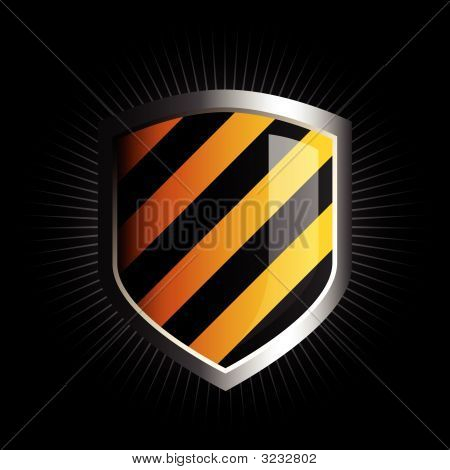 Black And Yellow Shield
