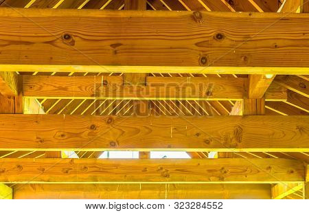 Roof Rafters And Cross Beams