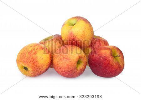 Pile Of Gala Apple Isolated On White Background