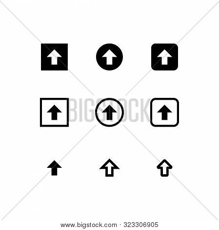 Arrow Icon Set, Set Icon Arrow, Set Arrow Icon, Set Upload Arrow Icon, Arrow Up Icon, Up Arrow Icon,