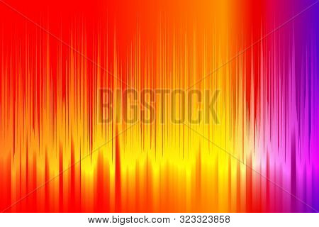 Illustration Abstract Hot Wave Color. Vector Impassioned Background.