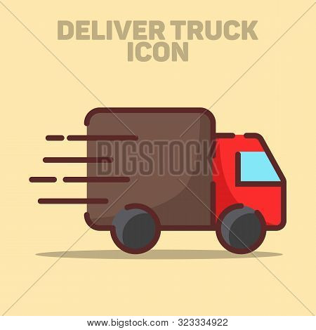 Isolated Delivery Truck Icon Vector Illustration Clipart