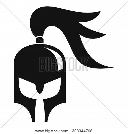 Knight Helmet Icon. Simple Illustration Of Knight Helmet Vector Icon For Web Design Isolated On Whit