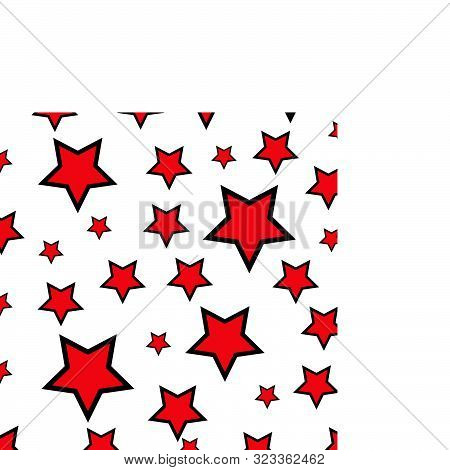 Abstract Seamless Wallpaper With Stars Red And White Background Texture Vector Illustration