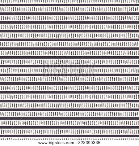 Seamless Pattern. Hand Drawn Stripes Background. Stylish Traditional Broken Horizontal Pinstripe. Bl