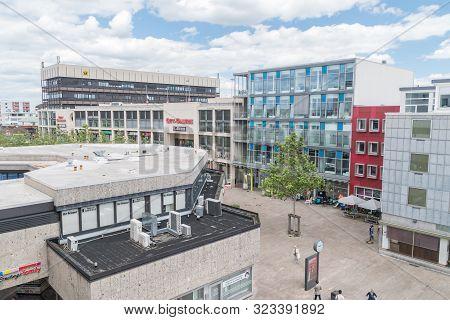 Wolfsburg, Germany - June 8, 2019: View Of Buildings At Wolfsburg.