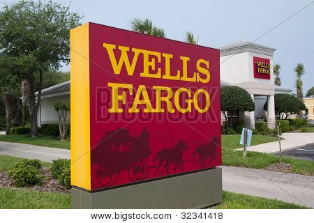 JACKSONVILLE, FL-APR 8: A Wells Fargo Bank Branch in Jacksonville, Florida on April 8, 2012. Wells Fargo & Company was founded in 1929 and currently has 9,000 bank branches in 39 states.