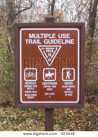 Trail Guideline Sign