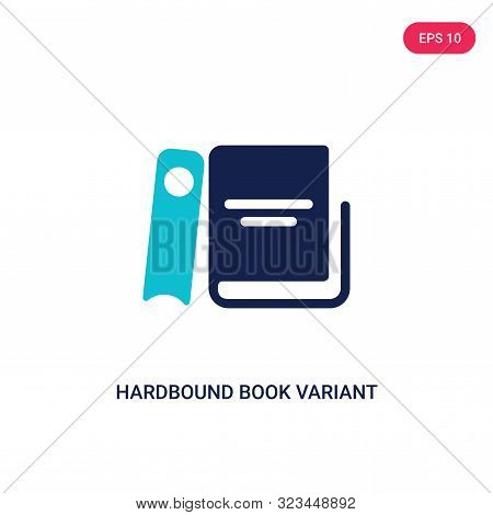 hardbound book variant icon in two color design style.