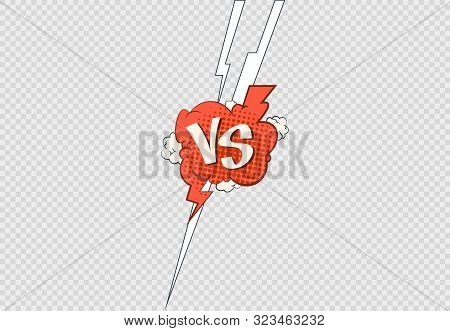 Comic Versus Frame. Vs Contest Battle Sports Or Matches Clashing Fight. Vector Illustration Flat Con