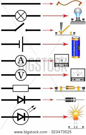 Symbols For Electrical Circuits And Data For Electrical Devices.