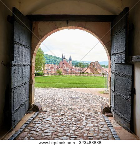 View Through An Archway Of The Castle Wilhelmsburg On The Old Town Of Schmalkalden In Thuringia