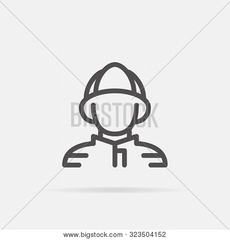 Fireman Icon In Line Style. For Your Design, Logo. Vector Illustration. Editable Stroke. 48x48 Pixel