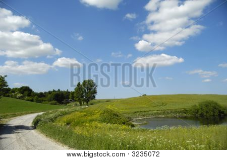 Landscape With Lake And Path