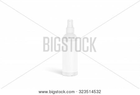 Blank White Deodorant Bottle Mockup Stand Isolated