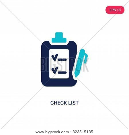 check list icon in two color design style.