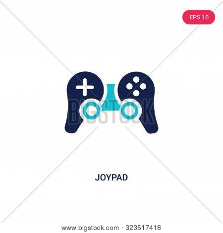 joypad icon in two color design style.