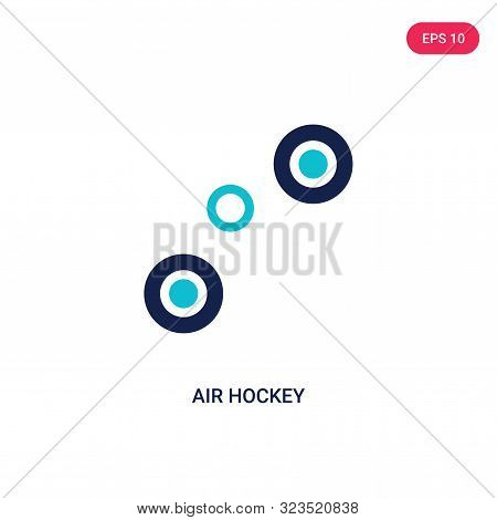 air hockey icon in two color design style.