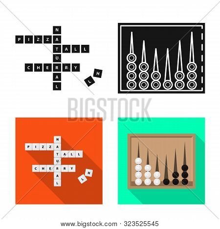 Vector Illustration Of Entertainment And Competition Icon. Set Of Entertainment And Rivalry Stock Sy