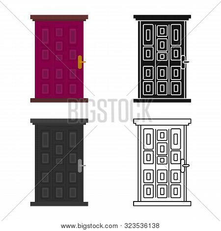Vector Illustration Of Door And Doorway Icon. Set Of Door And Frame Vector Icon For Stock.