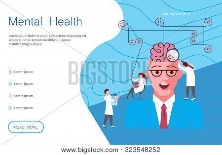 Web Page Of Mental Health. Metaphor Of Split Personality Disorder, Borderline Disorder, Schizophreni
