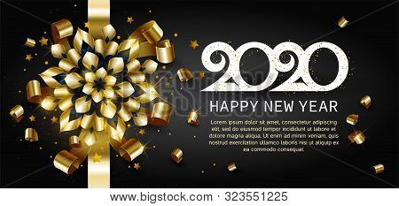 Happy New Year, Gold Vector & Photo (Free Trial) | Bigstock