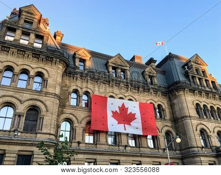 Ottawa, Canada - June 25th, 2019: The Office Of The Prime Minister And Privy Council Building, Forme