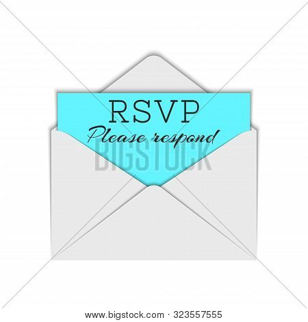 Abbreviation Rsvp And Please Respond Text To Require Confirmation Of An Invitation, Realistic White