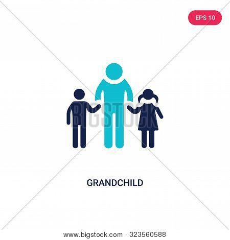 grandchild icon in two color design style.