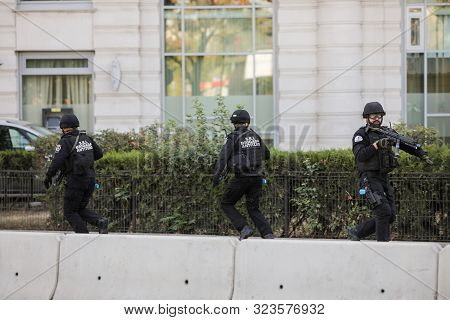 Bucharest, Romania - September 22, 2019: Agents From The Counter-terrorism Brigade Of The Romanian I