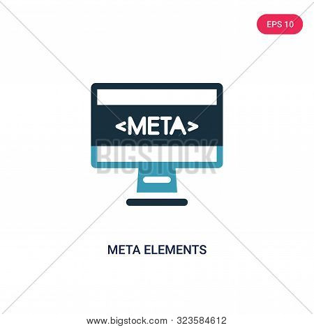 meta elements icon in two color design style.