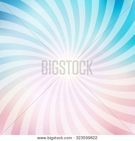 Abstract Circus Retro Graphic Radius Effects Blue And Pink Pastel Color And Light Effect For Comic B