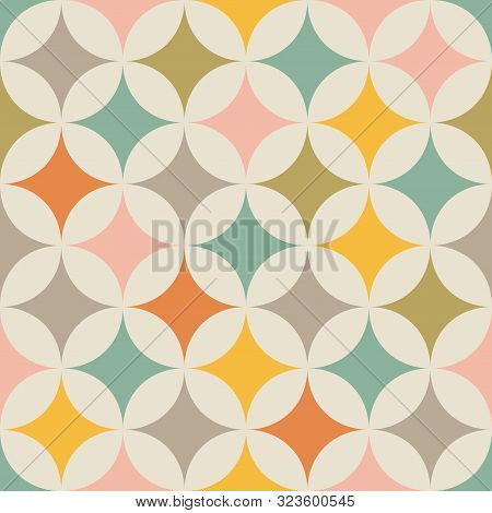 Geometric Seamless Pattern. Abstract Background. Vintage Pattern. Retro Pattern