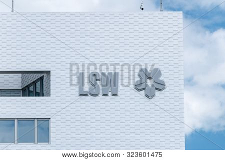 Wolfsburg, Germany - June 8, 2019: Logo And Sign Lsw On Building Facade In Wolfsburg.