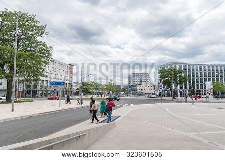 Wolfsburg, Germany - June 8, 2019: View Of City Center Of Wolfsburg.