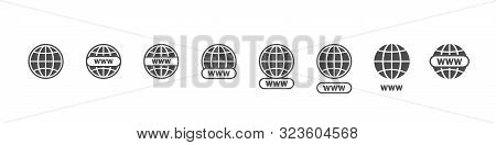 Www Big Set Vector Icons. Website Icons. Online Website Or Internet Flat Vector Icon. Www Vector Ico
